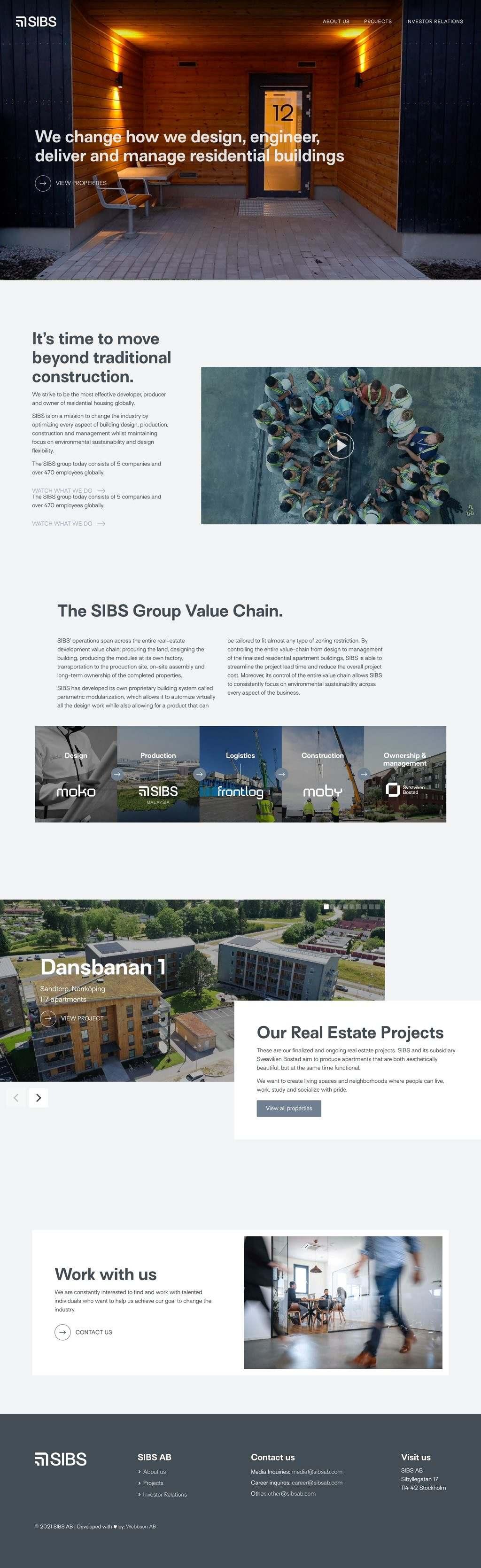 Webbson bygger en mobilanpassad hemsida till SIBS AB